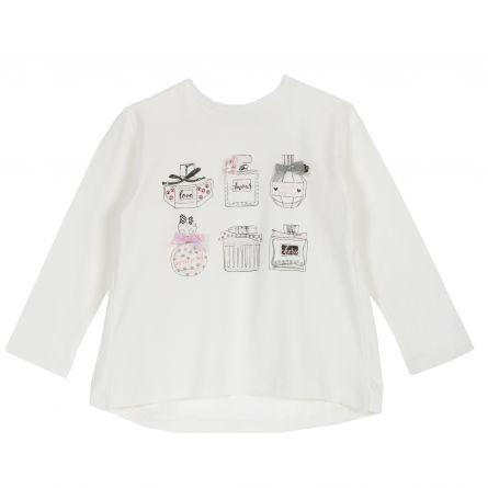 Tricou copii Chicco, alb, 116