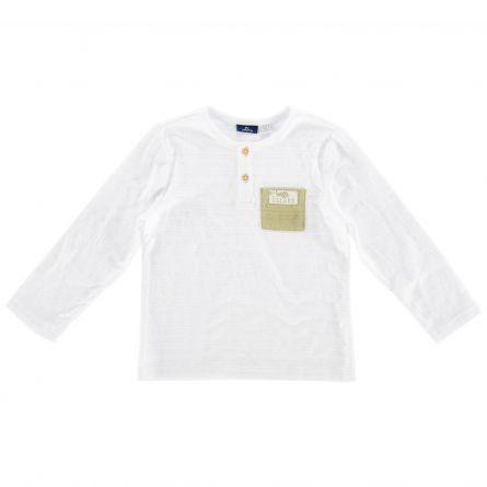 Tricou copii Chicco, maneca lunga, alb, 110