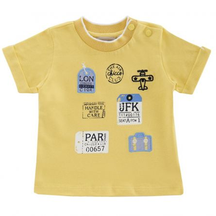 Tricou copii Chicco, maneca scurta, galben, 06364