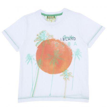 Tricou pentru copii, Chicco, maneca scurta, alb, 116