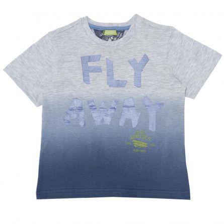Tricou pentru copii Chicco, maneca scurta, gri, 128
