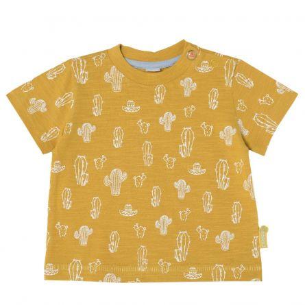 Tricou pentru copii, Chicco, maro cu model, 68