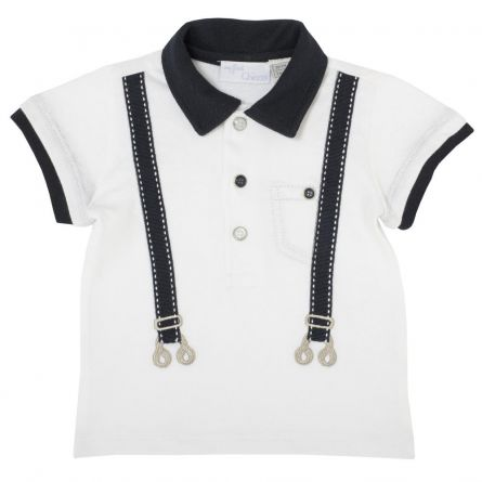 Tricou pentru copii, Chicco, polo, alb, 68