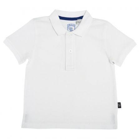 Tricou polo copii Chicco, alb, 104