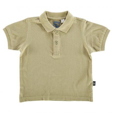 Tricou polo copii Chicco, maneca scurta, kaki, 116