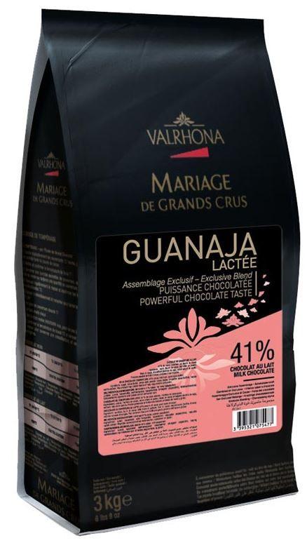 Ciocolata cu Lapte Premium GUANAJA LACTEE 41% CACAO, Valrhona, 3 Kg 10001496