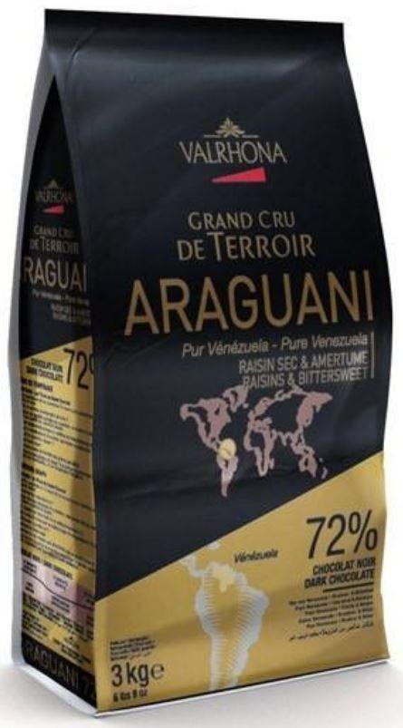Ciocolata Neagra Premium ARAGUANI 72% CACAO, Valrhona, 3Kg 10004322