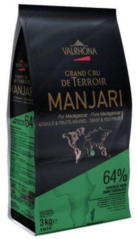 Ciocolata Neagra Premium MANJARI 64 % CACAO, Valrhona, 3Kg 10003627