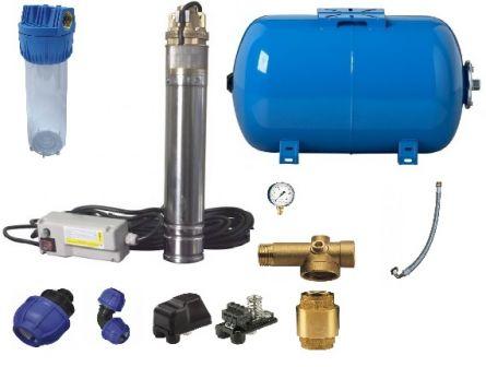 Pompa submersibila 4skm torrent 150 + vas expansiune hidrofor 50 l + accesorii mont