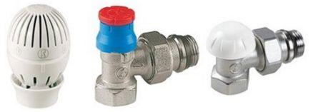 Set robineti radiator Giacomini 1/2 (tur termostatat + retur+cap termostatat)