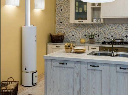Boiler lemn si electric 80l Braun rezistenta 1200w