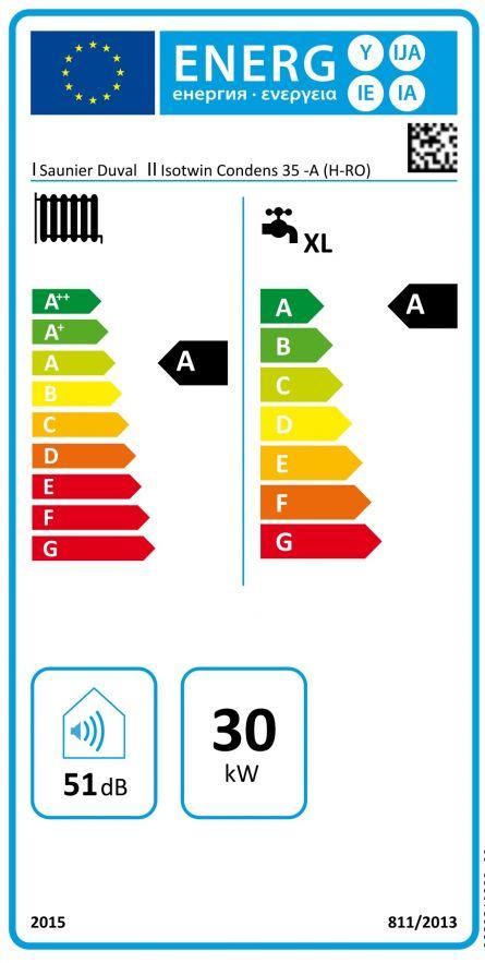 Centrala termica Saunier Duval ISOTWIN CONDENS 35-A cu boiler 42 litri