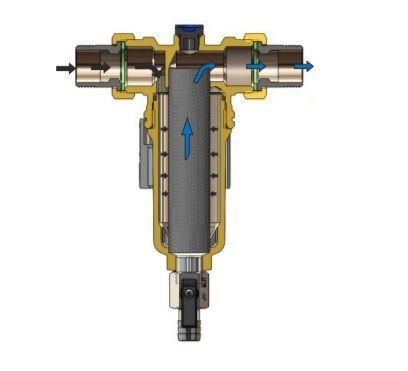 Filtru anti-magnetita linear pentru centrale termice Tiemme cu filet 1``1/2
