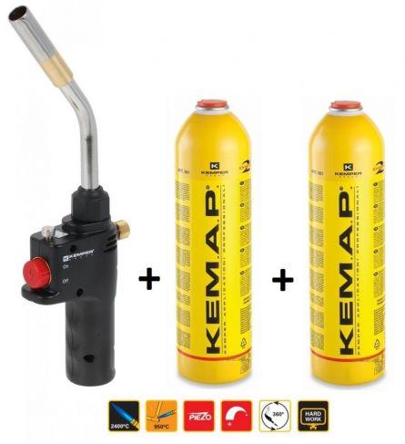 Kit arzator profesional piezo Turbo Kemap cu 2 butelii