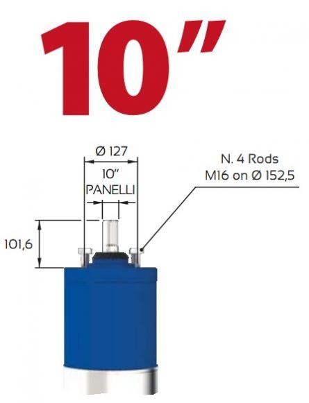 Motor submersibil de 10`` 400V  75 kw