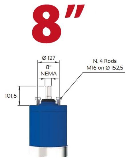Motor submersibil de 8`` 400V  92 kw