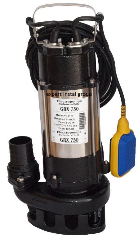 Pompa cu tocator GRX 750 W debit=14 mc/h h=11 metri