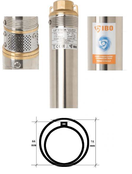 Pompa submersibila multietajata Ibo 2,5 STM 24