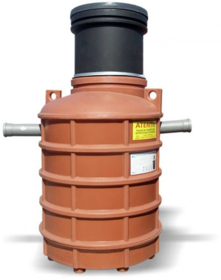 Separator de grasimi cu montare subterana cilindric vertical NG4