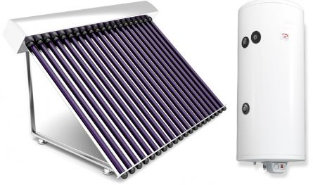 Sistem complet  panouri solare tuburi vidate 4 persoane varianta TVIB-1S-200