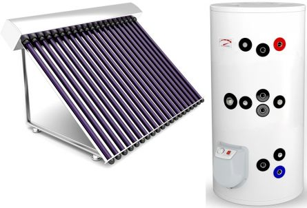 Sistem complet  panouri solare tuburi vidate 4 persoane varianta TVIB-2S-200
