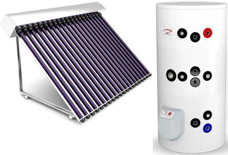 Sistem complet  panouri solare tuburi vidate 6 persoane varianta TVIB-2S-300