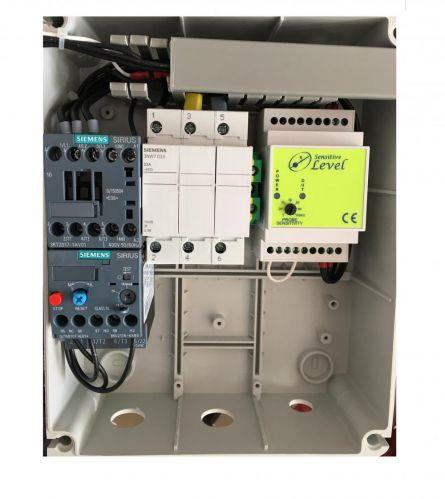 Tablou de comanda pompa submersibila trifazata 3kw cu senzori de nivel