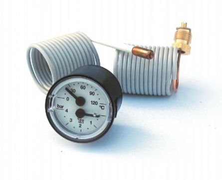 Termomanometru cu capilare d42 mm 120 grade 4 bar