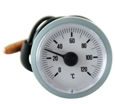 Termometru cu capilar d42 mm 120 grade