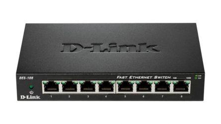 DLINK SW 8P-FE UNMNGD DESK METAL