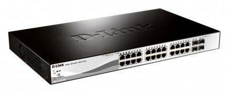 DLINK SW 24P-FE POE 2P-SFP 2CMB SMART RM