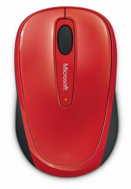MOUSE MICROSOFT MOBILE 3500 FLAME RED