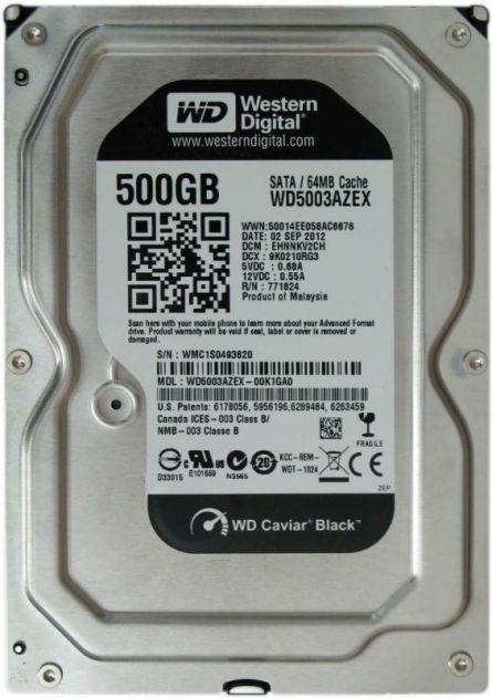 WD HDD3.5 500GB SATA WD5003AZEX
