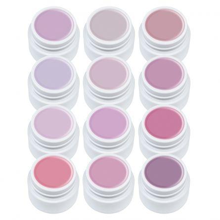 Gel color Set gel color Lila Rossa, Nude Series, 12 geluri