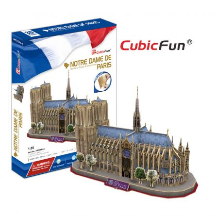 PUZZLE 3D - CBF3 - Catedrala Notre Dame din Paris VAR2