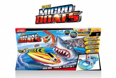 Set barcuta electrica si circuit de curse micro boats
