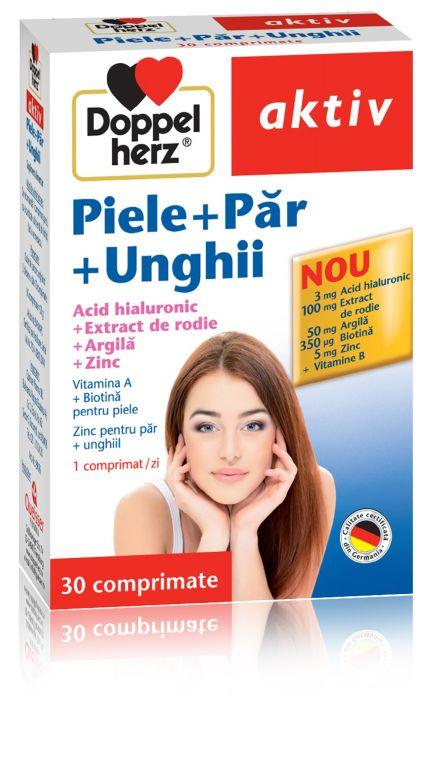 DOPPELHERZ Suplimente nturale pentru piele + par + unghii x 30 comprimate