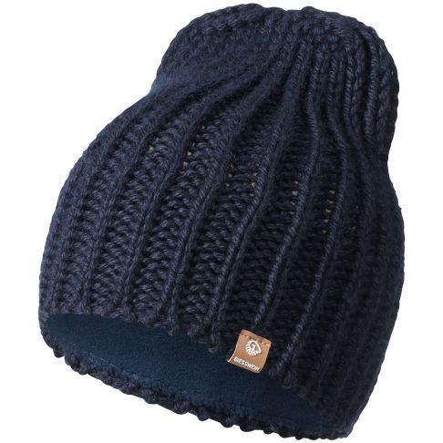 Caciula din lana, model Giebel, bleumarin