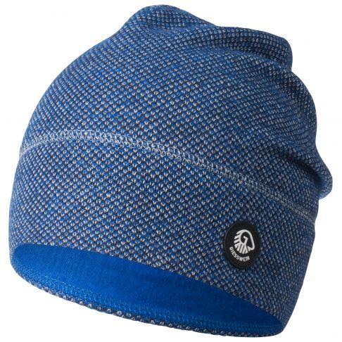 Caciula lana merino, model Hohes Eis, bleumarin