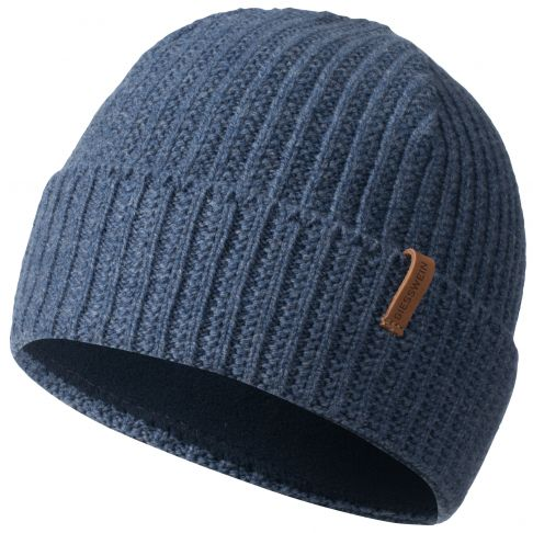 Caciula lana, model Hirscheck, bleumarin