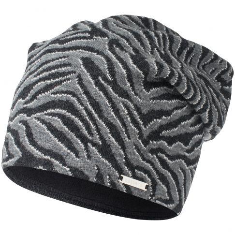 Caciula lana merino cu fir metalizat, model Venet, gri