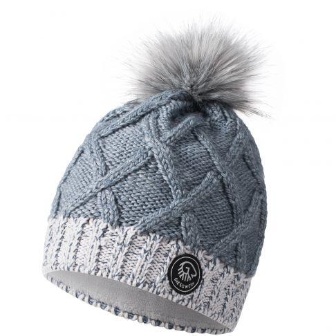 Caciula lana merino, model Monte Fumo, albastru