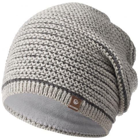 Caciula lana merino, model Mooskopf, gri deschis