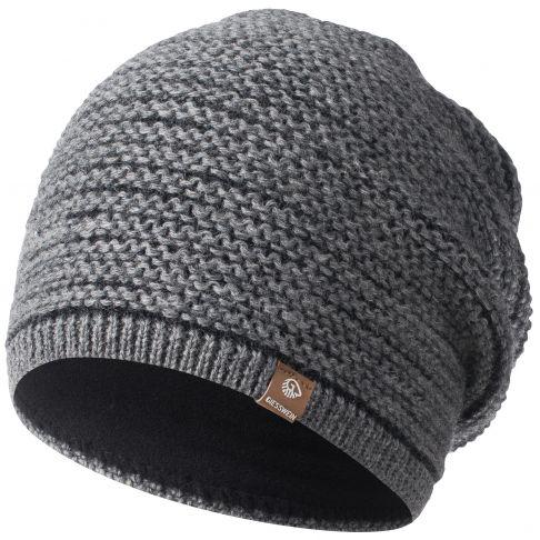 Caciula lana merino, model Mooskopf, gri