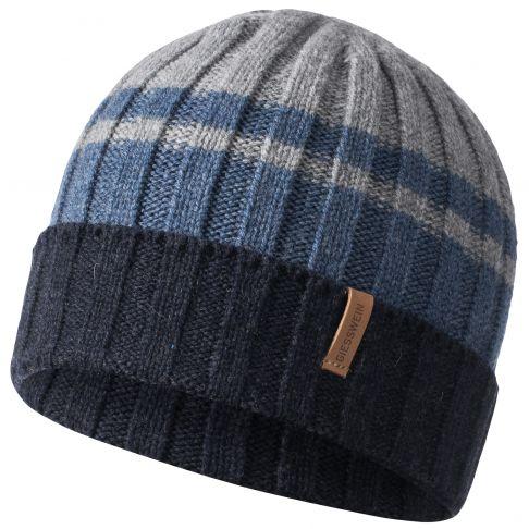 Caciula lana merino, model Schrock, bleumarin