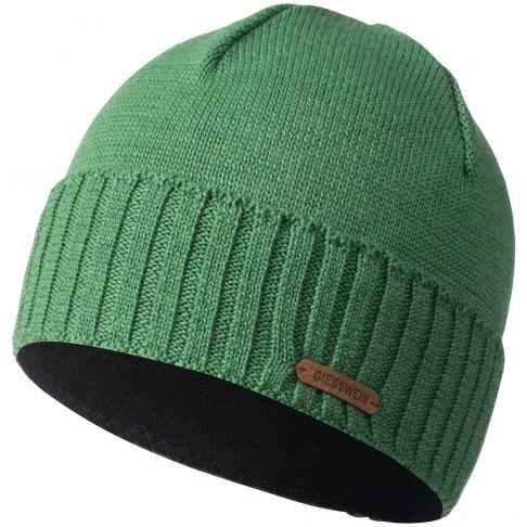 Caciula lana merino, model Wildgrat, verde
