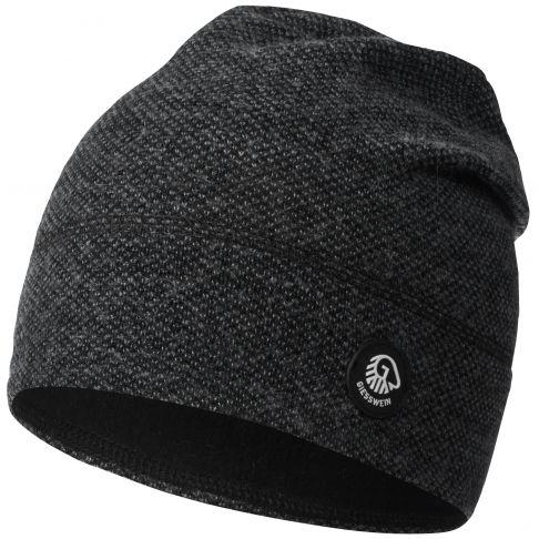 Caciula lana merino, model Hohes Eis, negru