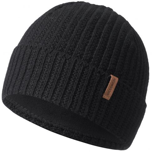 Caciula lana, model Hirscheck, negru
