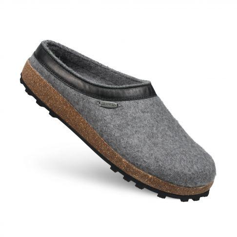 Papuci de casa Chiem, din lana, gri 36