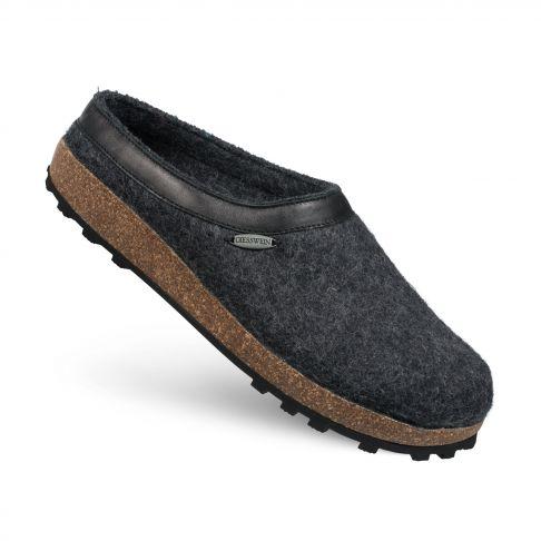 Papuci de casa Chiem, din lana, antracit  40